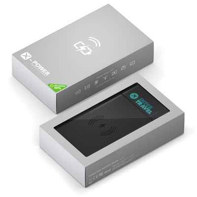 Batterie de secours Deluxe 8000mAh à Induction 8000 mAh Noir