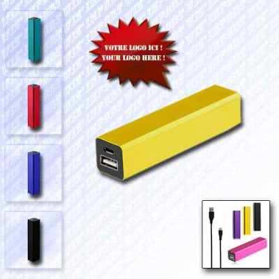 Batterie de recharge de secours en métal tube octogonal
